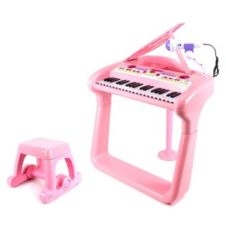 Classical Elegant Piano Children's Musical Toy Pink Keyboard Play Set