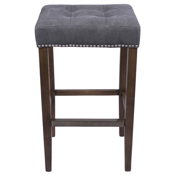 Nashville Slate Grey 30 Inch Nailhead Bar Stool Free