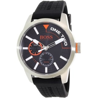 Hugo Boss Men's Black Silicone Orange 1513305 Quartz Watch