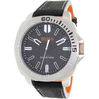 Hugo Boss Men's Black Leather Sao Paulo 1513295 Quartz Watch