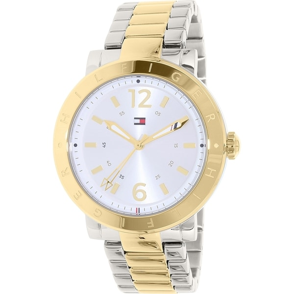 21214630 Shop Tommy Hilfiger Women's Stainless Steel Table Quartz Watch - Free  Shipping Today - Overstock - 11342582