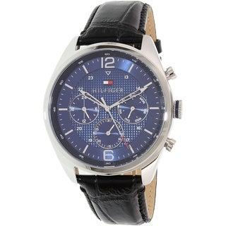 Tommy Hilfiger Men's Black Leather Sophisticated 1791182 Quartz Watch