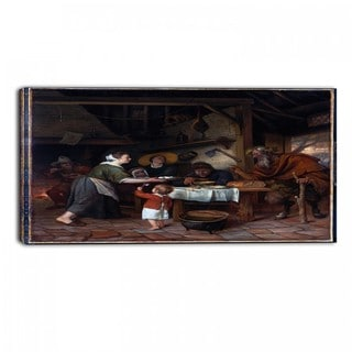 Design Art 'Jan Steen - The Satyr and the Peasant Family' Canvas Art Print