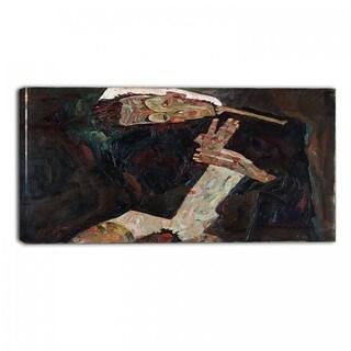 Design Art 'Egon Schiele - The Lyricist' Canvas Art Print