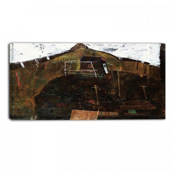 Design Art 'Egon Schiele - Landscape with Ravens' Canvas Art Print