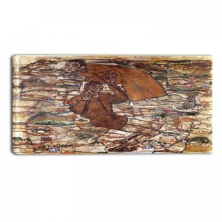 Design Art 'Egon Schiele - Levitation' Canvas Art Print