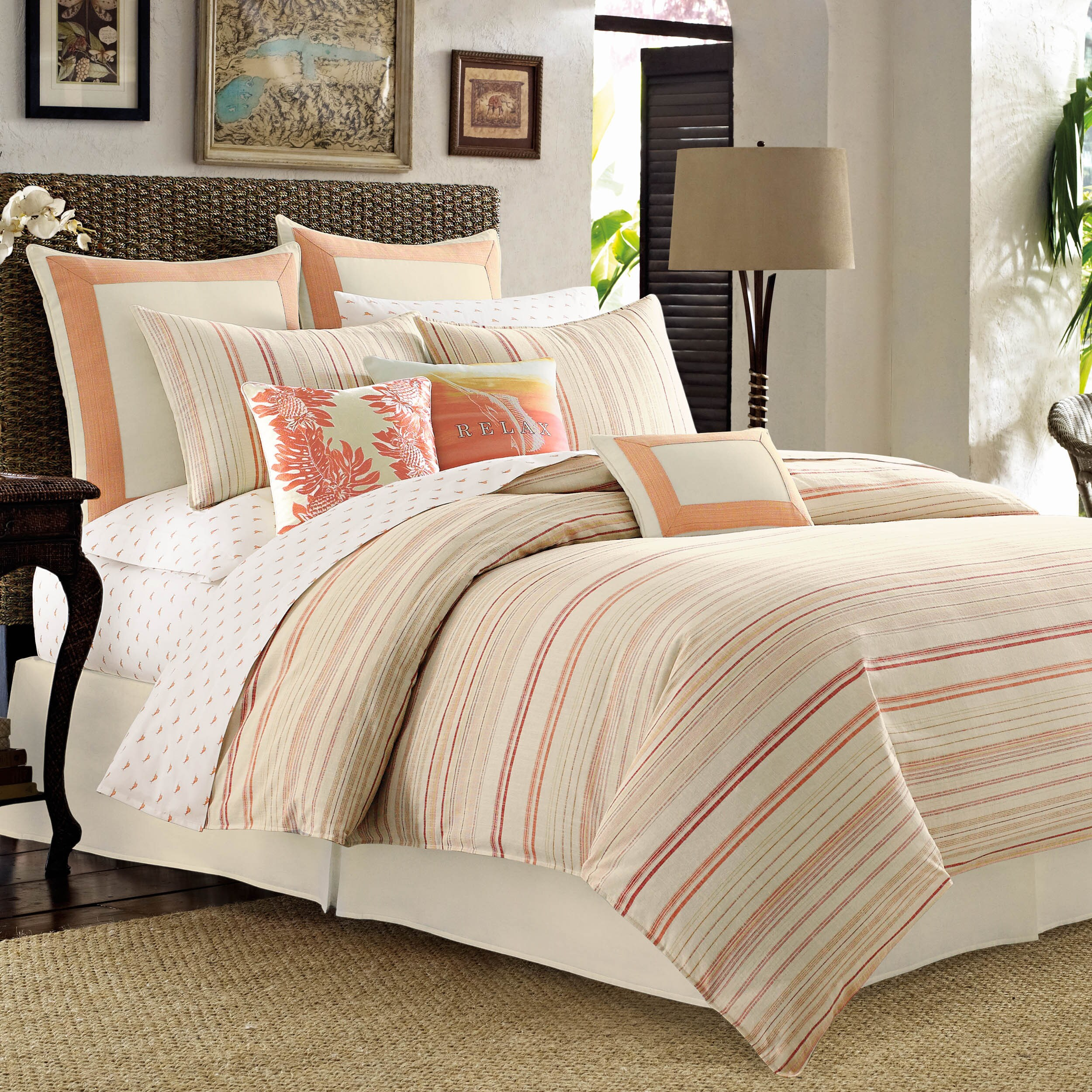 bamboo paradise duvet bahama queen king cover southern tommy breeze comforter set palm