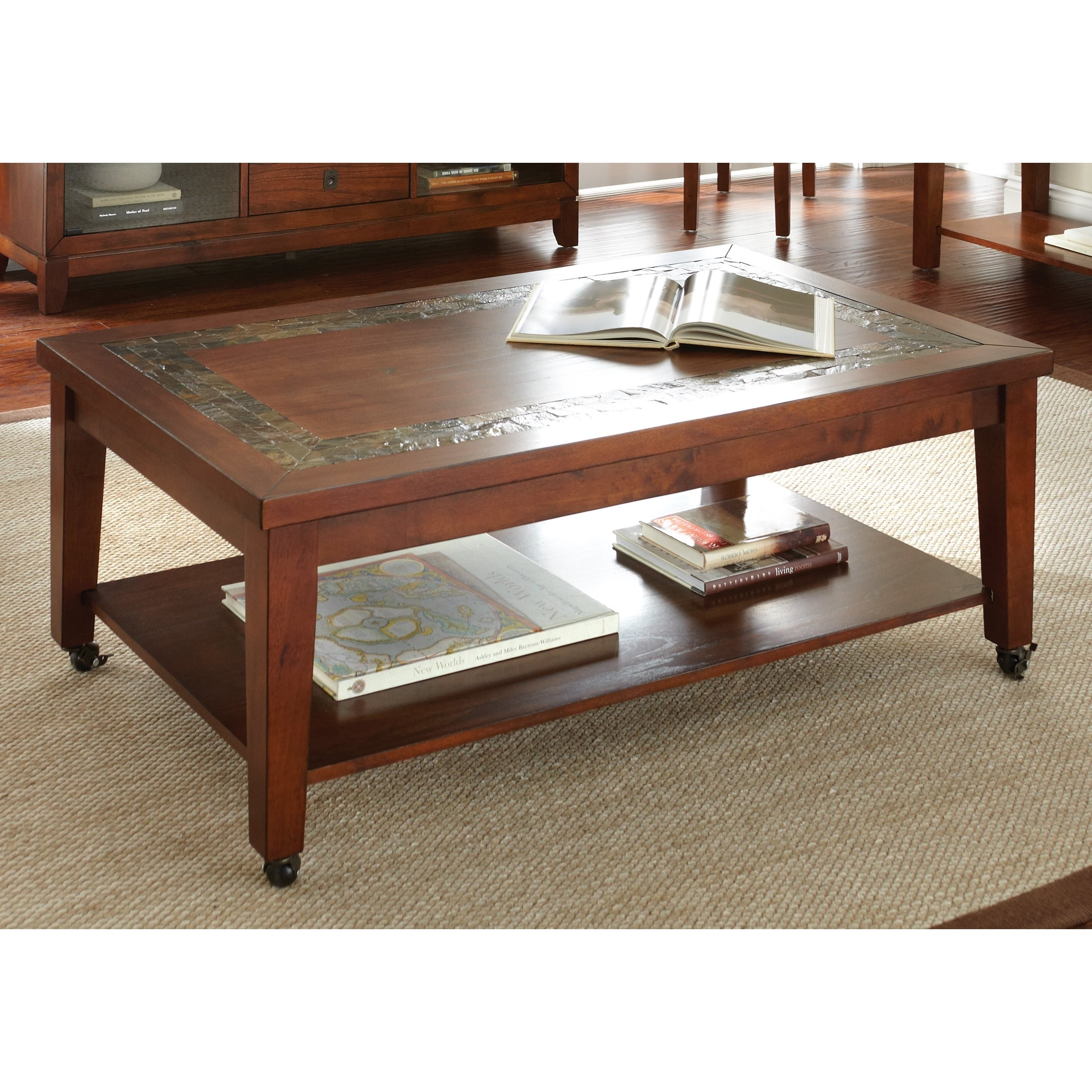 Plymouth Sofa Table with Slate Inset by Greyson Living (P...