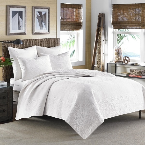 0397fb8e2d Shop Tommy Bahama Nassau White Quilt - On Sale - Free Shipping Today -  Overstock - 11342658