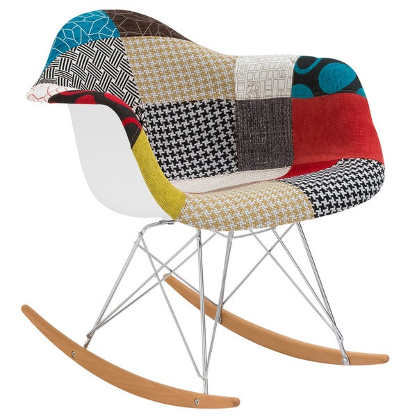 Poly And Bark Patchwork Rocking Chair