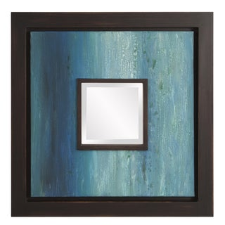 Monet Blue Painted Canvas Mirror