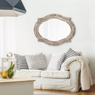 Aubrey Elongated Quatrefoil Mirror