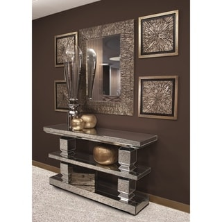 Linden Rectangle Wall Mirror - Champagne/Silver