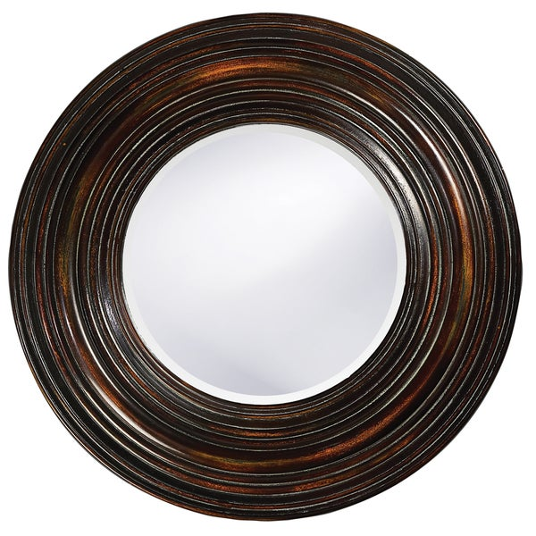 Canton Distressed Round Mirror