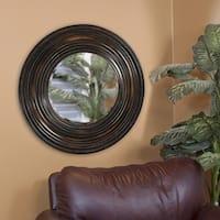 Canton Distressed Round Mirror