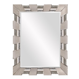 Rectangular Antiqued Curved Mirror Frame