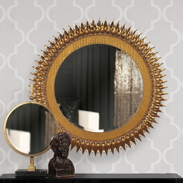 Medallion Gold Tabletop Mirror - N/A