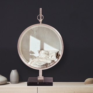 Medallion Silver Mirror Tabletop Mirror