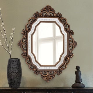 Ariana Gold Scroll Framed Accent Mirror