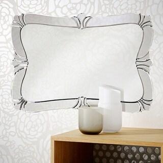 Messina Fleur De Lis Wall Mirror - Silver
