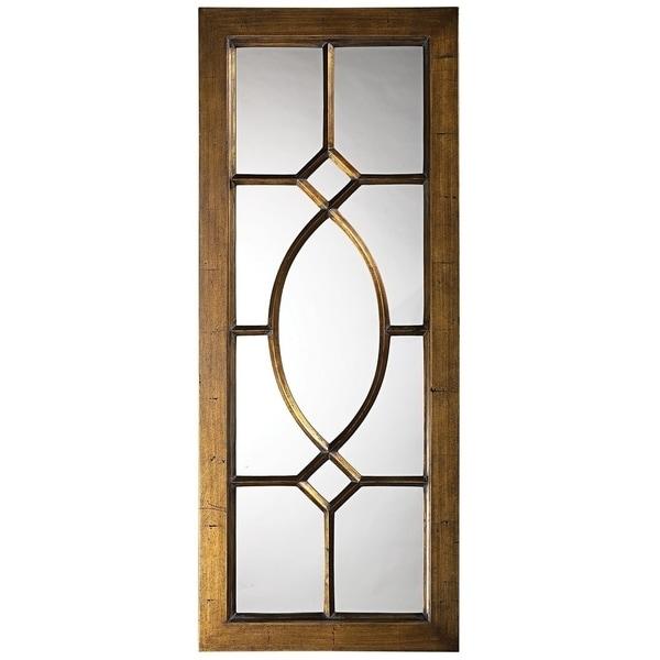 Dayton Window Wall Mirror - Antique bronze