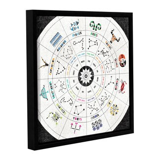 ArtWall Michael Mullan's Zodiac Chart, Gallery Wrapped Floater-framed Canvas
