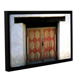 ArtWall Kathy Yates's Mission Door, Gallery Wrapped Floater-framed Canvas