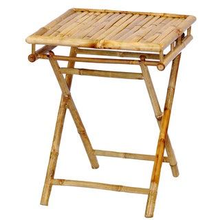 Handmade Bamboo Folding Short Table (Vietnam)