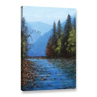 ArtWall Gene Foust's Fall Creek, Gallery Wrapped Canvas