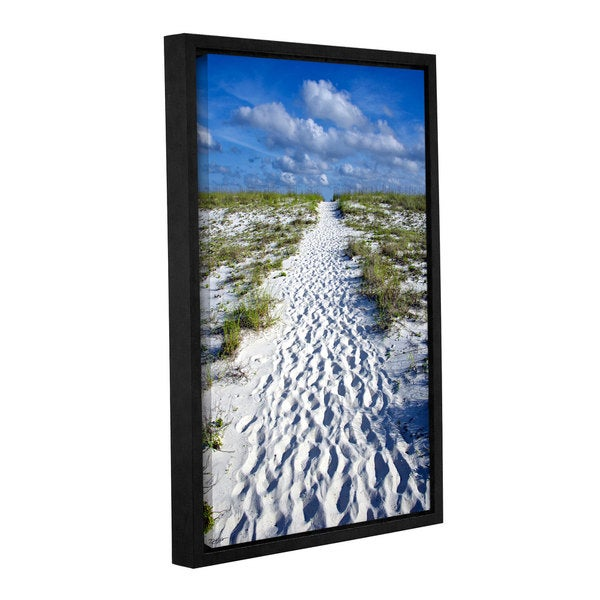 Antonio Raggio's 'Beach Path' Gallery Wrapped Floater-framed Canvas