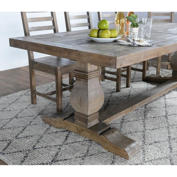 Kasey Reclaimed Wood Desert Grey Dining Table By Kosas Home