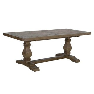 Kasey Reclaimed Wood Natural 94-inch Dining Table by Kosas Home - desert grey - 30.7hx94.5wx39.4d