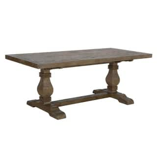 kasey reclaimed wood desert grey dining table by kosas home - Farmhouse Kitchen Table