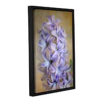 Antonio Raggio's 'Violet Lillies' Gallery Wrapped Floater-framed Canvas - Multi
