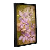 Antonio Raggio's 'Violet Flowers' Gallery Wrapped Floater-framed Canvas - Multi