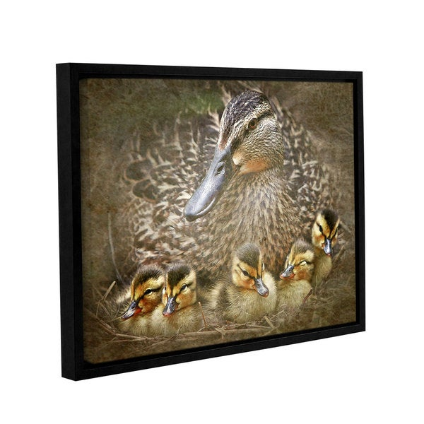 Antonio Raggio's 'Baby Ducks' Gallery Wrapped Floater-framed Canvas