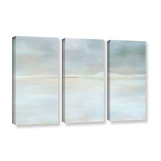 ArtWall Cora Niele's Landscape Snow, 3 Piece Gallery Wrapped Canvas Set