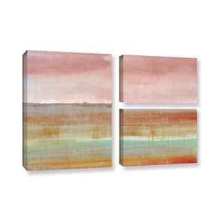 ArtWall Cora Niele's Landscape Autumn , 3 Piece Gallery Wrapped Canvas Flag Set
