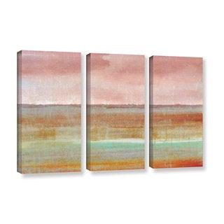 ArtWall Cora Niele's Landscape Autumn , 3 Piece Gallery Wrapped Canvas Set