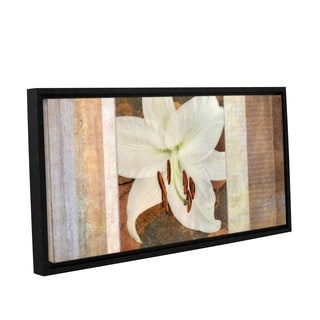 ArtWall Cora Niele's Ivory, Gallery Wrapped Floater-framed Canvas