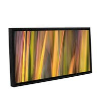 ArtWall Cora Niele's Vivid Green , Gallery Wrapped Floater-framed Canvas