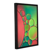 ArtWall Cora Niele's Green, Gallery Wrapped Floater-framed Canvas - Multi