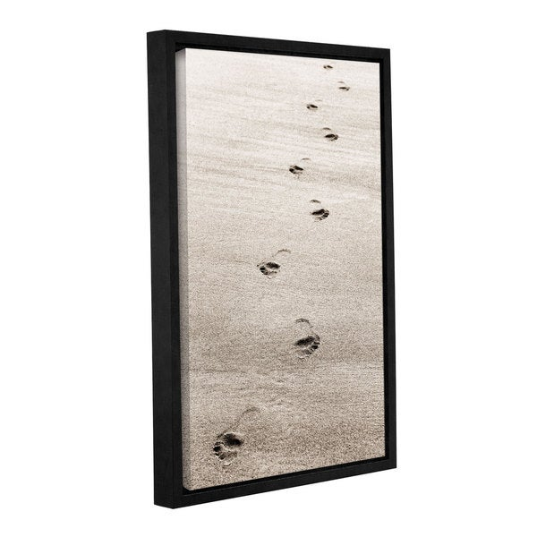 ArtWall Cora Niele's Footprint, Gallery Wrapped Floater-framed Canvas