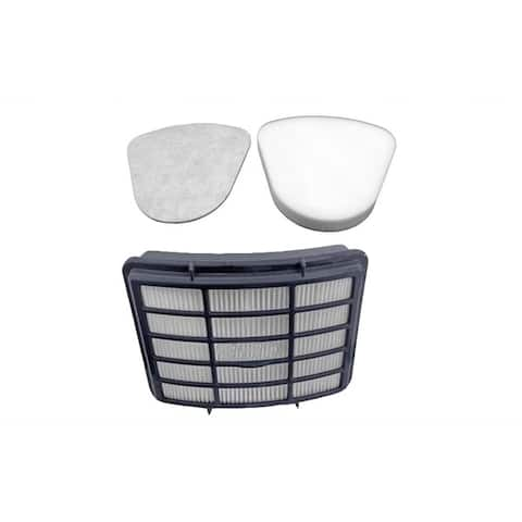 Replacement HEPA Style Filter, Foam & Felt Filter Kit, Fits Shark Navigator Lift-Away Series, Compatible w/ Part XHF350 & XFF350