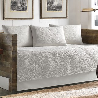 Tommy Bahama Nassau Scrollwork White Cotton 5-piece Quilted Daybed Cover Set