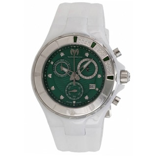 TechnoMarine Ceramic Women's Cruise Green Dial Watch
