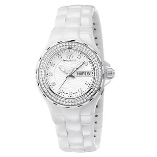 TechnoMarine Cruise Ceramic Women's White Dial Dress Watch