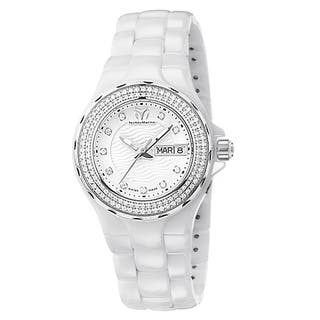 TechnoMarine Cruise Ceramic Women's White Dial Dress Watch|https://ak1.ostkcdn.com/images/products/11343100/P18317166.jpg?impolicy=medium