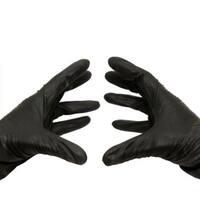 500 Black Nitrile Medium Powder-free Disposable Gloves 3.5 Mil