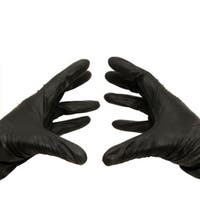 200 Nitrile Disposable Gloves Powder and Latex Free Industrial Large Black 3.5 Mil